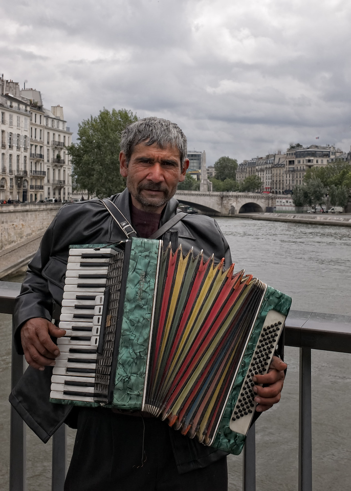 For a Euro, he'll play any song you don't know.