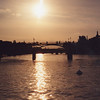 Sunset on the Seine from Sq du Vert Gallant, Ile de la Cite