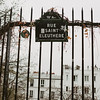 street sign and gate in Montmartre