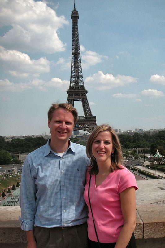 Scott and Elizabeth at the Eiffel Tower