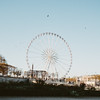 big wheel and birds flying on Place de la Concorde Paris