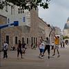 Playing basketball near St. Paul