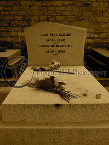 The grave of Sartre and Simone De Beauvoir. Paris , France.
