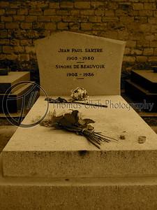 The grave of Sartre and Simone De Beauvoir. Paris , France.