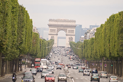 Arc De Triomphe from the top of a bus