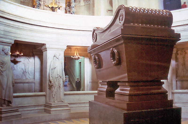 Napoleon sarcophagus Hotel des Invalides Paris France - Oct 1978