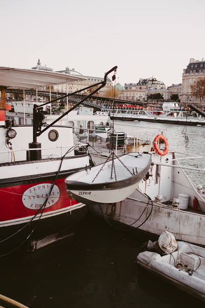 boats on the river seine in paris