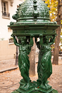 Parisian water fountain