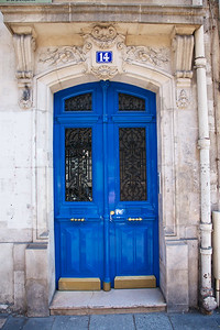 Blue Door Number 14 in Paris.