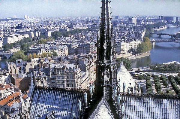 Fleche Notre Dame de Paris France - Oct 1978