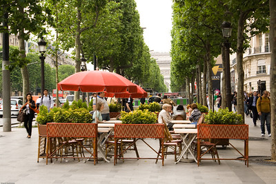 Cafe at the Champs-Elysees