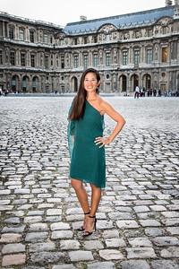 Louvre Courtyard, Paris.