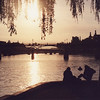 Sunset on the Seine at Sq du Vert Gallant, Ile de la Cite