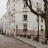 white buildings and street in Montmartre