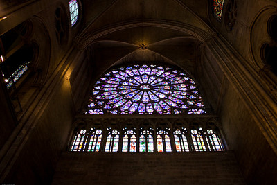 The Rose Window and the roof