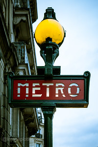 Metro Sign, Paris