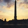 Obelisk at dusk, Place de la Concorde
