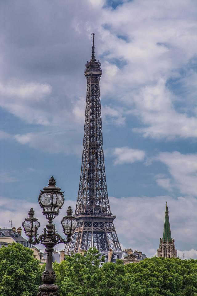 Paris View of Eiffel Tower