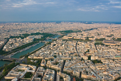 View from the Eiffel Tower - river Seine
