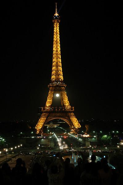 Eiffel Tower, Full Moon rising