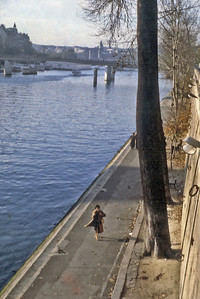 La Seine, rive droite Paris France - Oct 1978