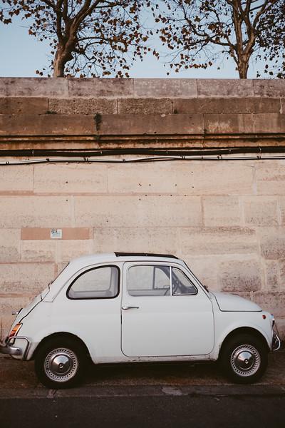 tiny european car