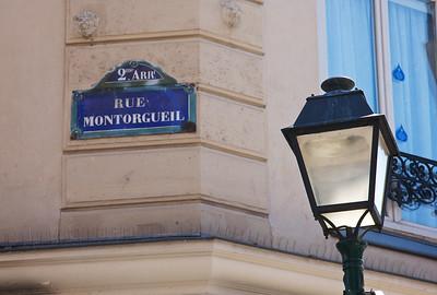 Rue Montorgueil, a classic pedestrian thoroughfare.