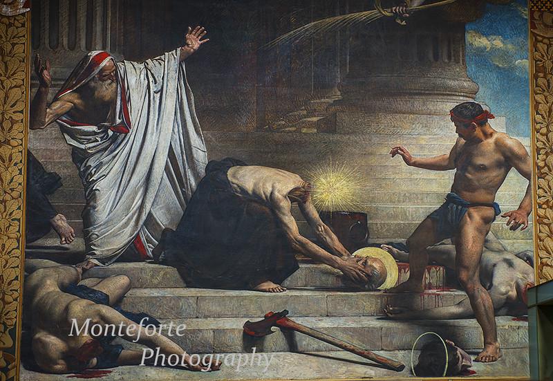 Painting of Saint Denis inside the Pantheon