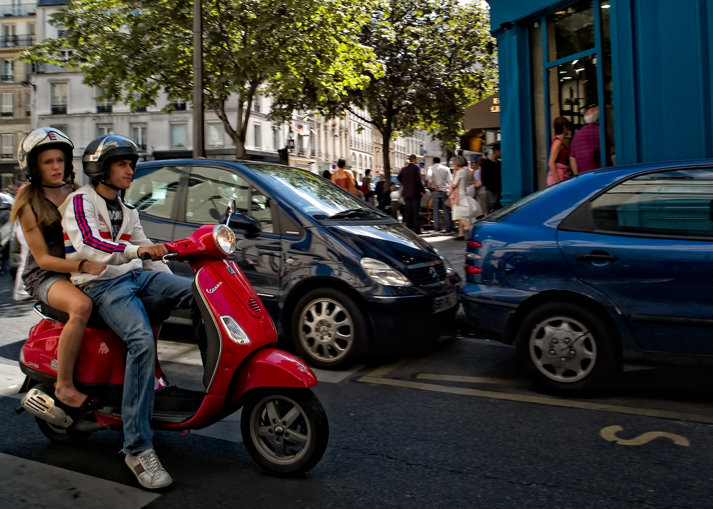 A Vespa is one of the quicker and fun ways to get around Paris.