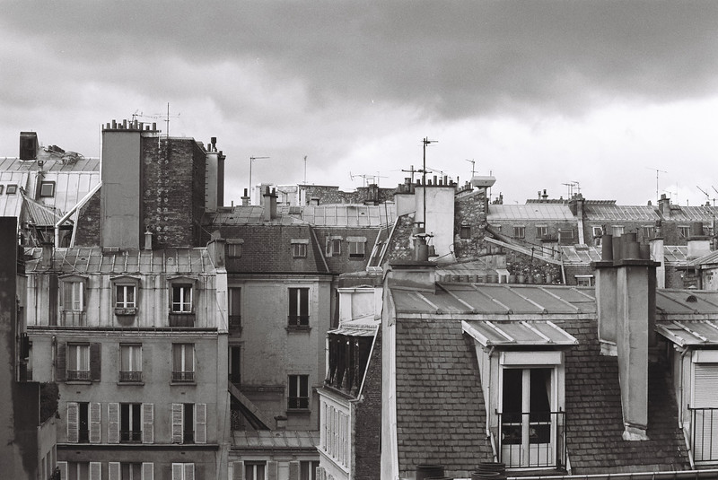 Paris rooftops.  Scanned negative from the old film days.....