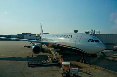 "US Airways A330, PHL-CDG - ""jump seat"""