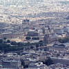 The Louvre viewed from the Eiffel Tower. Note the construction work going on (lots of brown dirt center of photo) in 1991 making the new shopping plaza at the Louvre below ground level. That's all beautiful gardens now and the shops including a post office are now open!