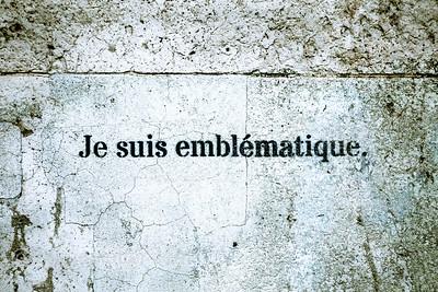 Je suis Emblematique, Grafitti, Paris