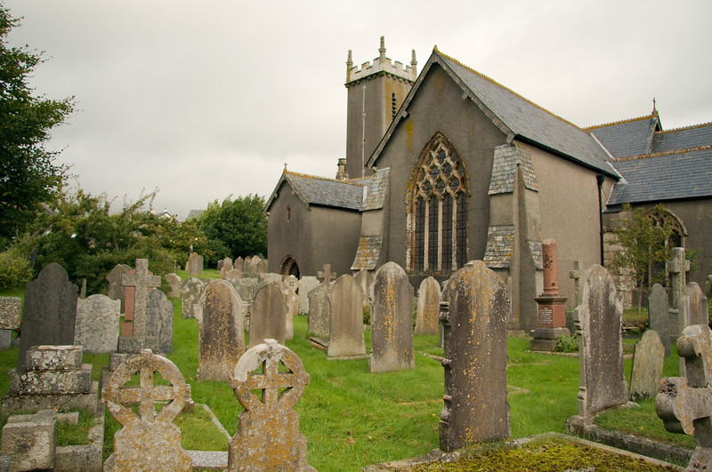 The Anglican church and churchyard of St. Andrews in Bere Ferrers. The Methodists also used the church during the late 18th century.
