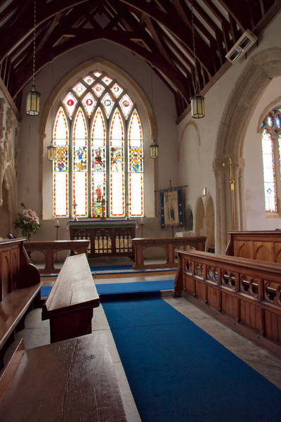 The stained glass is very old (14th century) and especially nice. Because of its proximity to the naval port and the Royal Citadel in nearby Plymouth, during WWII these windows were removed and carefully stored in a safer place.