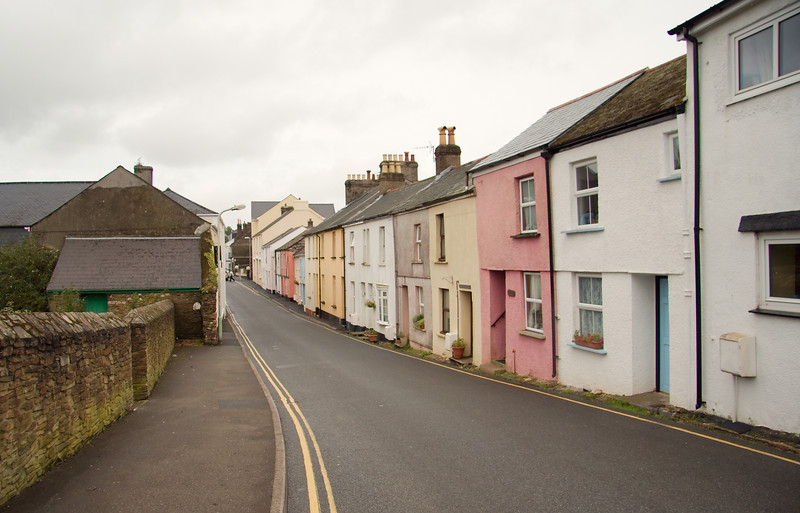 This is the high street heading into the Village of Bere Alston. It was a weekday morning and everyone seemed to be at work. The village was ours for the taking.