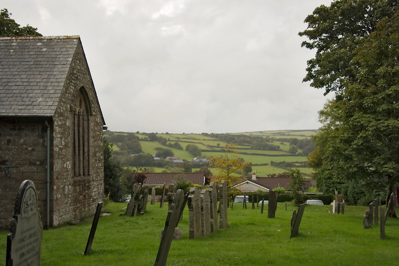 A view of Lower Tremar Combe from the churchyard.