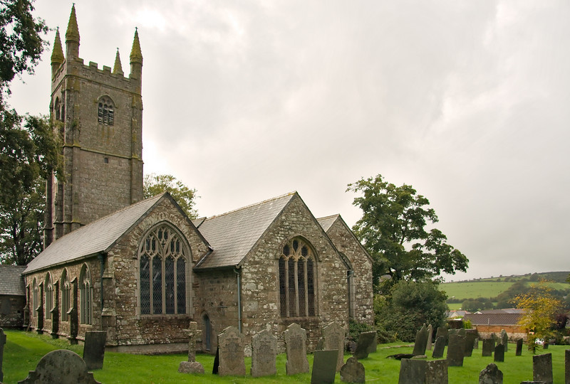 The 13th century parish church of St. Cleer
