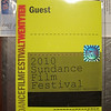 Sundance Film Festival, 2010.  Credential pass.