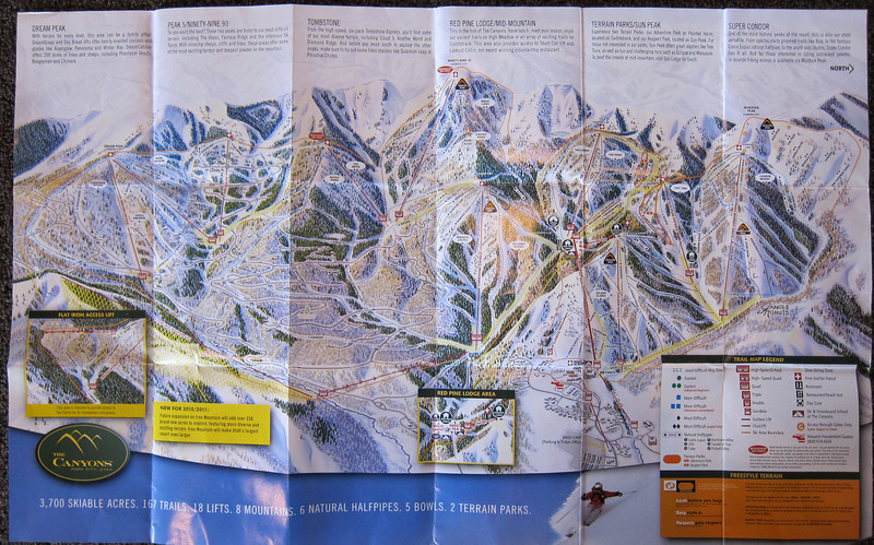 The Canyons.  Trail map.