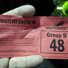 Waitlist ticket that got me into Bhutto.