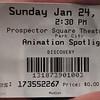 Sundance Film Festival, 2010.  Ticket for Animation Spotlight.