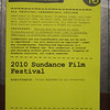 Sundance Film Festival, 2010.  Credential pass.