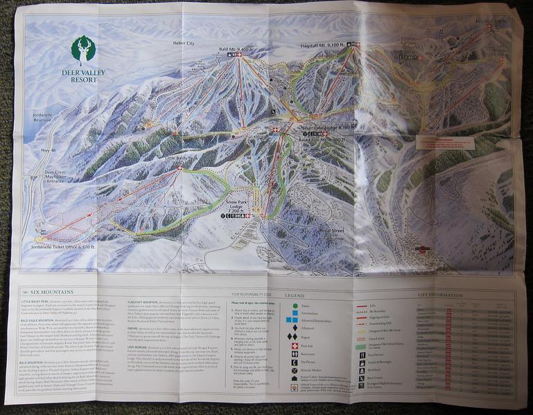 Deer Valley.  Trail map.