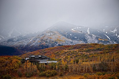 Fall Colors with ski runs in the background
