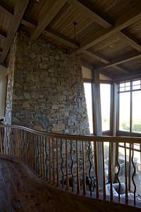 UL Loft looking into Great Room & Fireplace