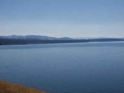 Point Fire on East shore of Yellowstone Lake  Copyright 2011 Neil Stahl