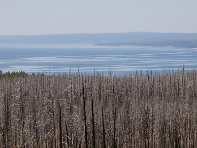 Our first view of Yellowstone Lake coming in from the east  Copyright 2011 Neil Stahl