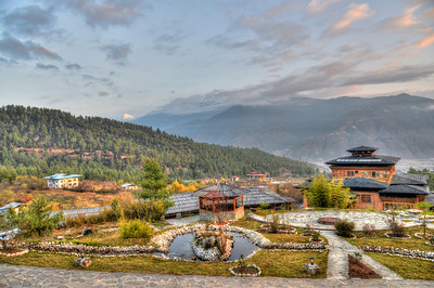 Naksel Boutique Hotel & Spa at Paro, Bhutan.   Blending the heritage of traditional Bhutanese architecture and the comfort of modern amenities.
