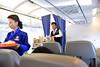 Inflight service enroute flight from Paro, Bhutan to Mumbai, India on Druk Air flight.
